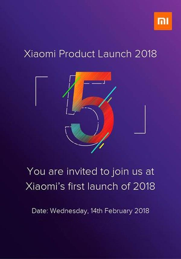 Xiaomi Redmi Note 5 запускает 14 февраля